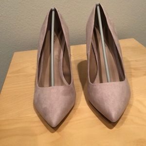 Brand new bone suede heels from Nordstrom size 8